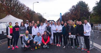 27 athlètes présents au 10km de Montereau le 29 octobre 2017